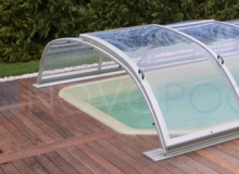 front wand uberdachung elegant novopool abdeckung schiebehalle pool cover lux schwimmbecken cover