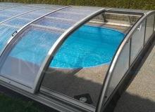 tur seitetur uberdachung elegant novopool abdeckung schiebehalle pool cover luxury excellent