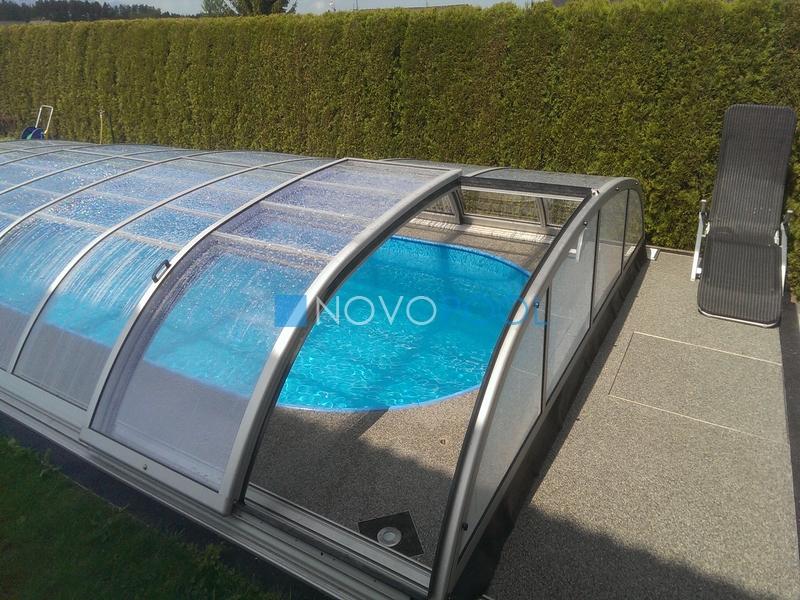 abdeckung elegant schiebehalle pooldach poolabdeckung novopool elegant lux excellent poolcover