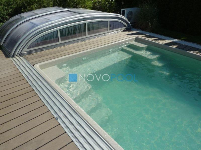 elegant uberdachung novopool pooldach poolcover plexiglas abdeckung schiebehalle swimmingpool