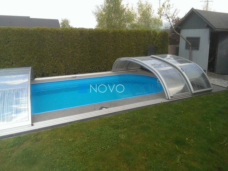 elegant uberdachung schwimmbecken abdeckung swimmingpool novopool.de novopool