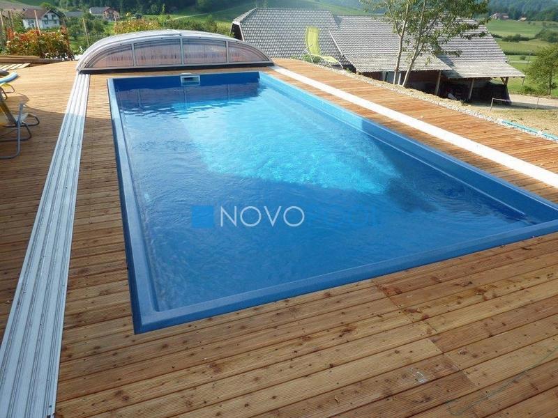 novopool elegant uberdachung schwimmbadabdeckung elegant plexiglass poolcover pooluberdachung
