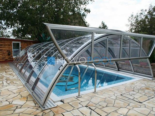 novopool.de klasik uberdachung pooldach abdeckung poolcover schwimmbaduberdachungen