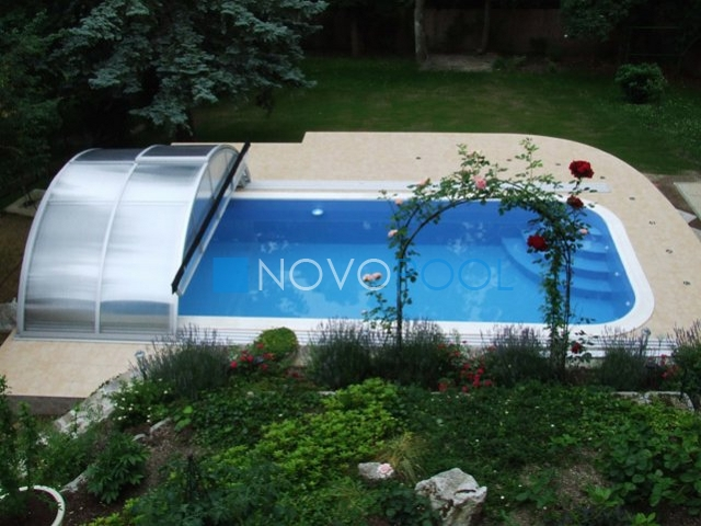 novopool.de klasik uberdachung pooldach abdeckung poolcover schwimmbecken
