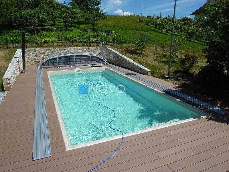 novopool.de pooldach elegant schwimmbaduberdachung abdeckung plexiglass poolabdeckung