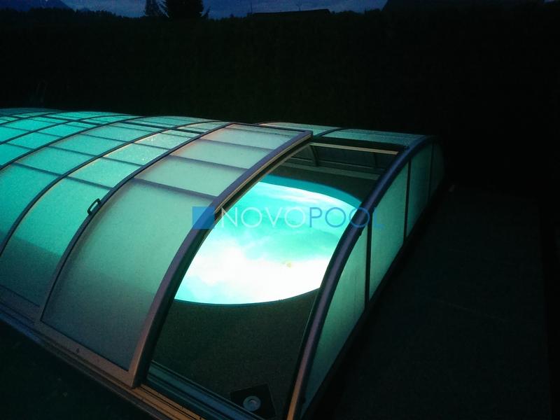 uberdachung elegant plexiglas policarbonate novopool novopool.de abdeckungen schiebehalle